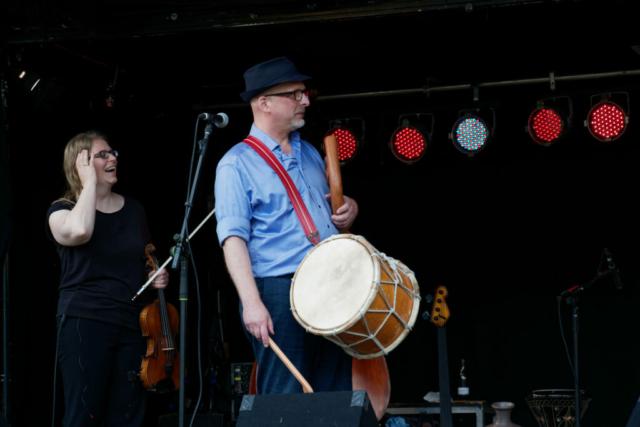 Spaß auf der Bühne, Foto: Stephan May